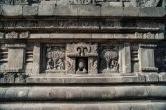 Detalle del alivio tallado en Prambanan Java, Indonesia Fotografía de archivo