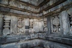 Detalle del alivio tallado en Prambanan Java, Indonesia Fotos de archivo
