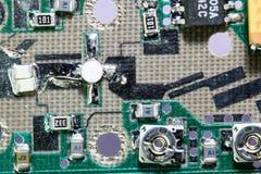 Detalle del amplificador del circuito de la microonda Imagen de archivo libre de regalías