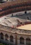 Detalle del anfiteatro del corrida imagenes de archivo