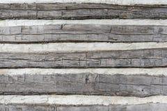 Detalle del apartadero de la cabaña de madera para el fondo foto de archivo