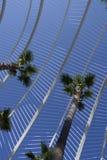 Detalle del arco del Umbracle en Valencia foto de archivo