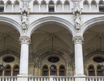 Detalle del balcón del parlamento Imagen de archivo