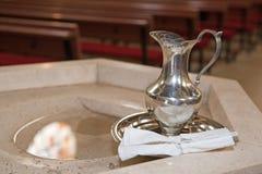 Detalle del bautismo Fotografía de archivo