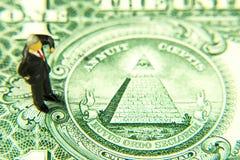 Detalle del billete de banco del dólar Fotografía de archivo libre de regalías