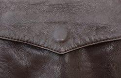 Detalle del bolsillo de la chaqueta de cuero Foto de archivo