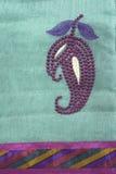 Detalle del bordado del mango Imágenes de archivo libres de regalías
