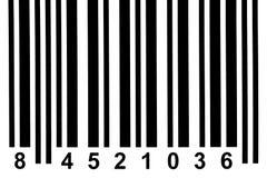 Detalle del código de barras Fotos de archivo