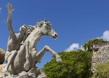 Detalle del caballo de la estatua de Raices Imagenes de archivo