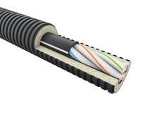 Detalle del cable óptico de la fibra - 3d rendir blanco aislado libre illustration