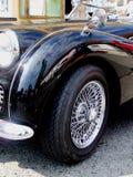 Detalle del cabriolé británico viejo, Triumph Foto de archivo