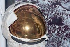 Detalle del casco de Space Suit del astronauta Fotos de archivo libres de regalías