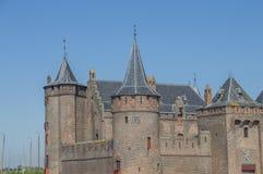 Detalle del castillo de Muiderslot en Muiden los Países Bajos imágenes de archivo libres de regalías