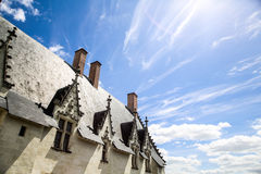 Detalle del castillo de Nantes, en Francia Imagen de archivo libre de regalías
