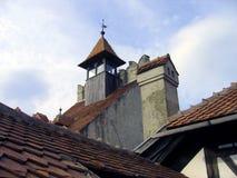 Detalle del castillo del salvado - Rumania fotos de archivo