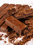 Detalle del chocolate Fotos de archivo