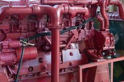 Detalle del cierre del motor de la nave. Fotos de archivo