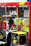 Detalle del coche de bomberos fotos de archivo