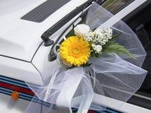 Detalle del coche de la boda Fotografía de archivo