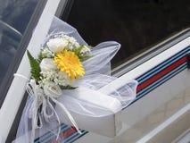 Detalle del coche de la boda Imagen de archivo libre de regalías