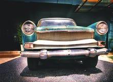 Detalle del coche viejo en imagen del vintage Imagen de archivo
