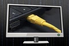 Detalle del conexion neto Imagen de archivo libre de regalías