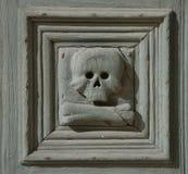 Detalle del cráneo, Chiesa del Purgatorio Imagen de archivo