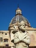 Detalle del cuadrado de Pretoria en Palermo, Sicilia foto de archivo
