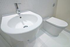 Detalle del cuarto de baño Foto de archivo libre de regalías
