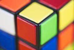 Detalle del cubo de Rubik Fotografía de archivo