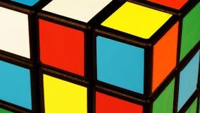 Detalle del cubo de Rubik s foto de archivo libre de regalías