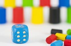 Detalle del cubo del juego Fotos de archivo
