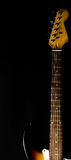 Detalle del cuello y de la cabeza de la guitarra eléctrica Fotos de archivo
