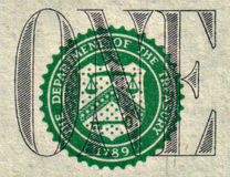 Detalle del dólar Imágenes de archivo libres de regalías