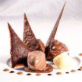 Detalle del desierto del chocolate fotografía de archivo libre de regalías