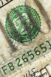 Detalle del dinero Fotografía de archivo libre de regalías