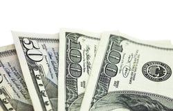 Detalle del dinero en circulación de los E.E.U.U. Foto de archivo