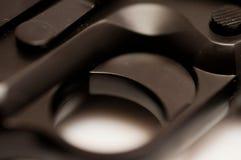 Detalle del disparador de la pistola Fotos de archivo libres de regalías