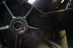 Detalle del ECU del mecanismo en pedazo de artillería capturado del Ejército de los EE. UU. en la exhibición en la variación de V Foto de archivo libre de regalías