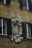 Detalle del edificio, Campo de Fiori, Roma Imagenes de archivo