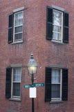 Detalle del edificio de Boston Beacon Hill Fotografía de archivo