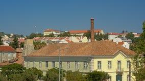 Detalle del edificio de la fábrica nacional del cordaje, Lisboa foto de archivo