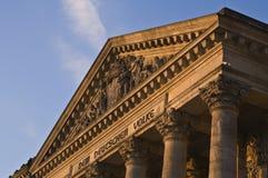Detalle del edificio de Reichstag Fotografía de archivo libre de regalías