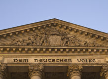 Detalle del edificio de Reichstag Imágenes de archivo libres de regalías