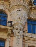 Detalle del edificio en Riga Imagen de archivo libre de regalías