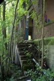 Detalle del edificio histórico de la cerradura 19 en el río Ohio imagen de archivo