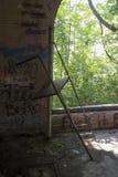 Detalle del edificio histórico de la cerradura 19 en el río Ohio fotos de archivo libres de regalías