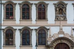 Detalle del edificio viejo en Praga Foto de archivo libre de regalías