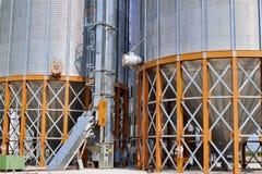 Detalle del elevador de grano Imagenes de archivo