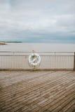 Detalle del embarcadero de Southwold Imagenes de archivo